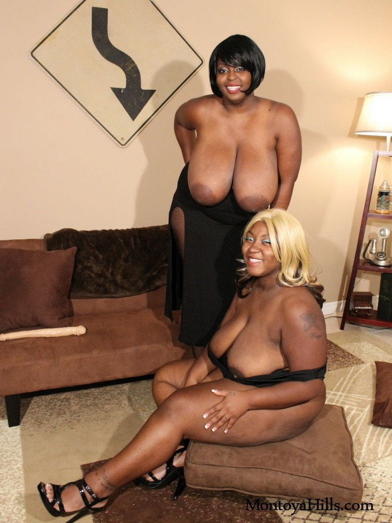 Big tit ebony lesbians ready for some girl/girl sex.