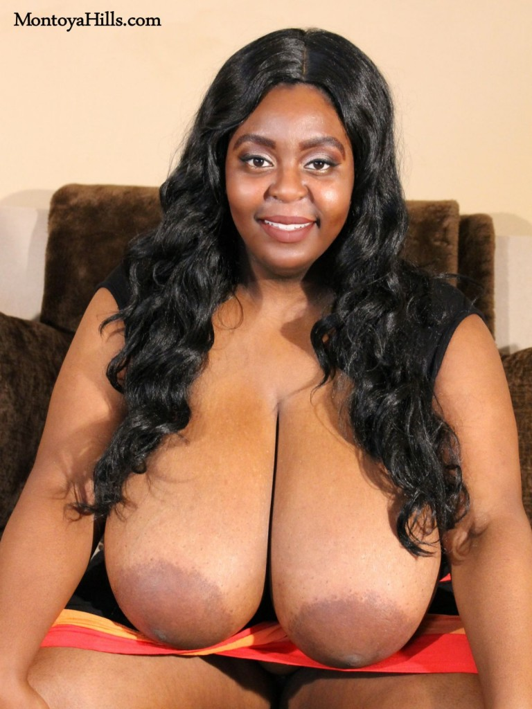 Montoya Hills exposes her massive magnificent breasts and large areolas.
